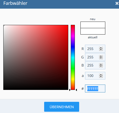 OptionType Colorpicker